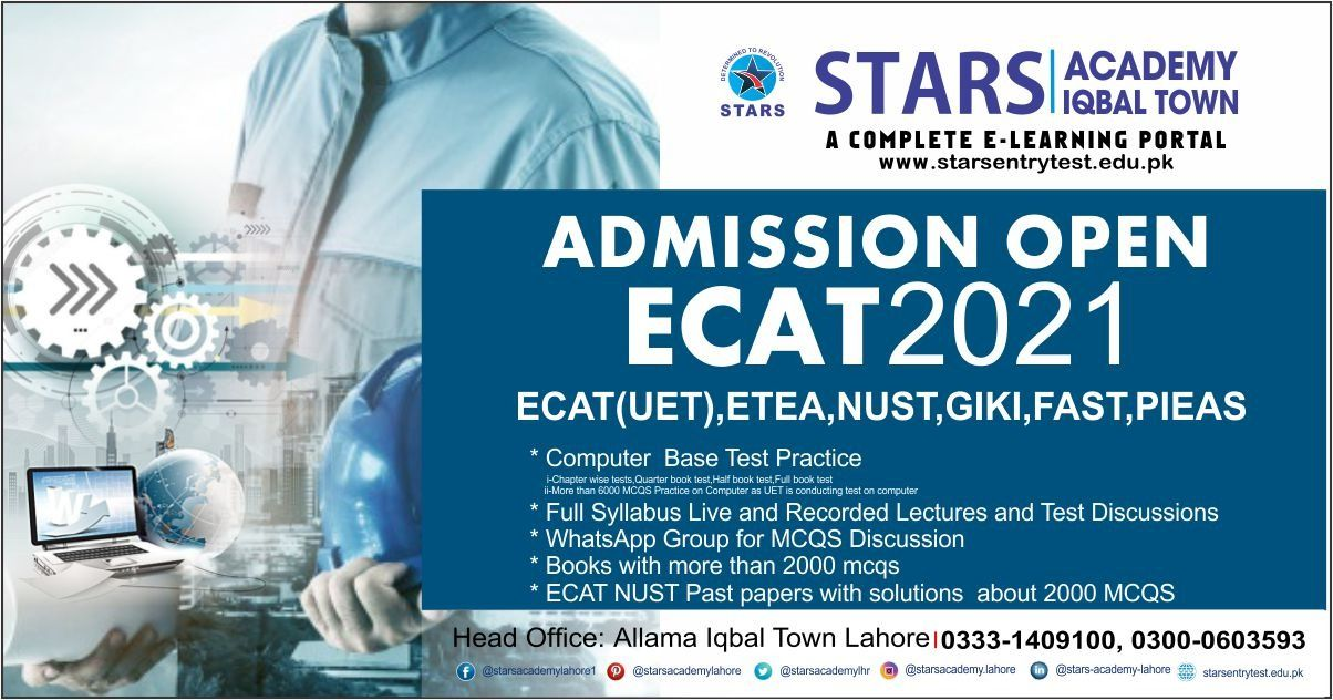 entry test classes at Stars Academy Lahore