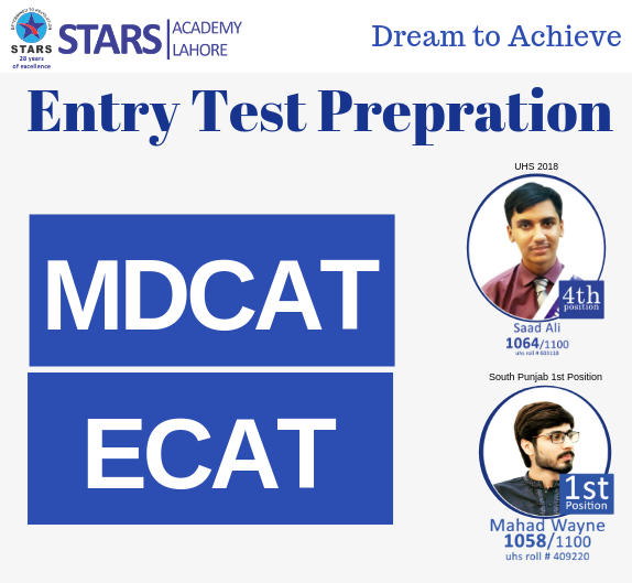 Stars Academy Entry Test Preparation | Stars Academy Entr Test